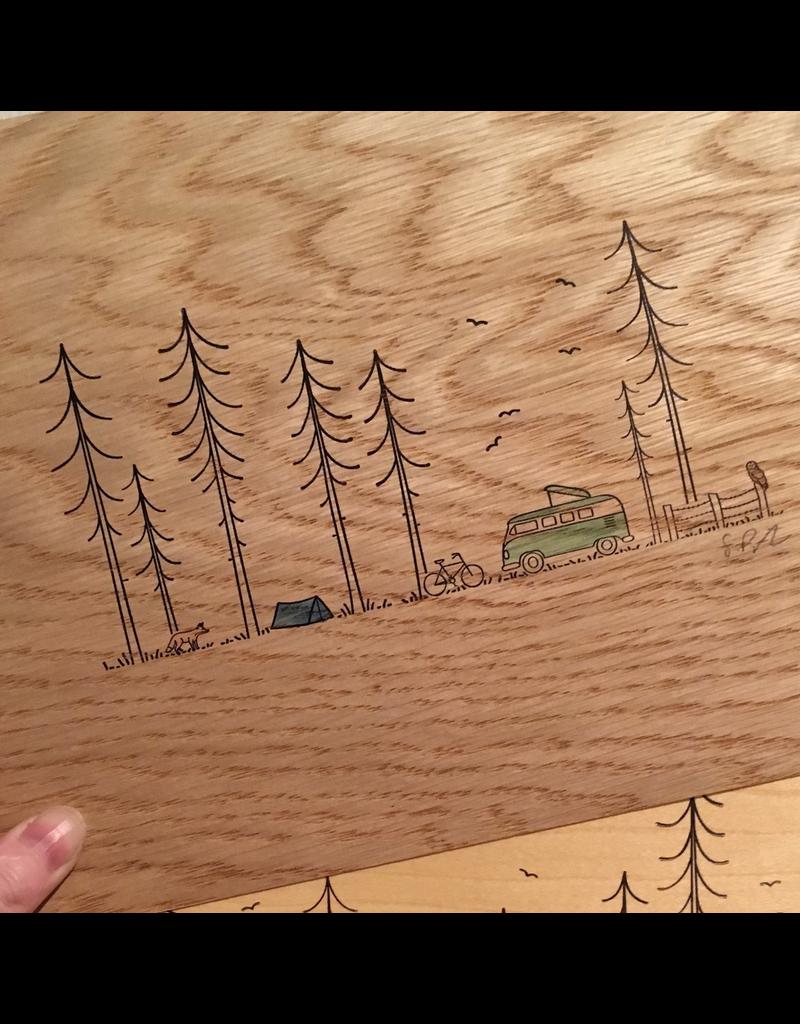 Prints Campfire + Tent + Telescope Print