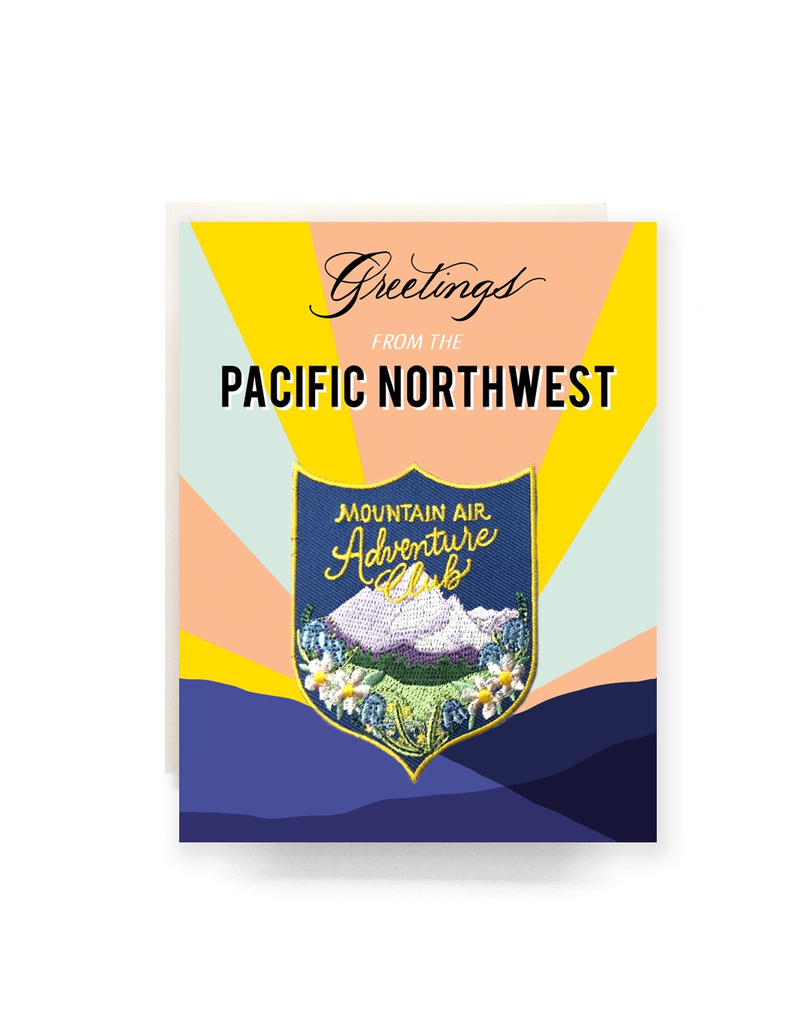 Greeting Cards - Local Greetings From PNW Patch Card