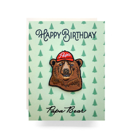Greeting Cards - Birthday Papa Bear Patch Birthday Card