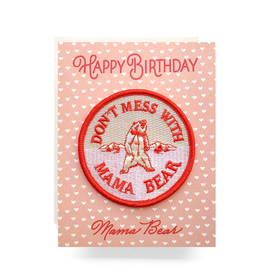 Greeting Cards - Birthday Mama Bear Patch Birthday Card