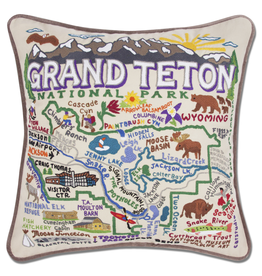 Pillows - Embroidered Grand Teton Pillow