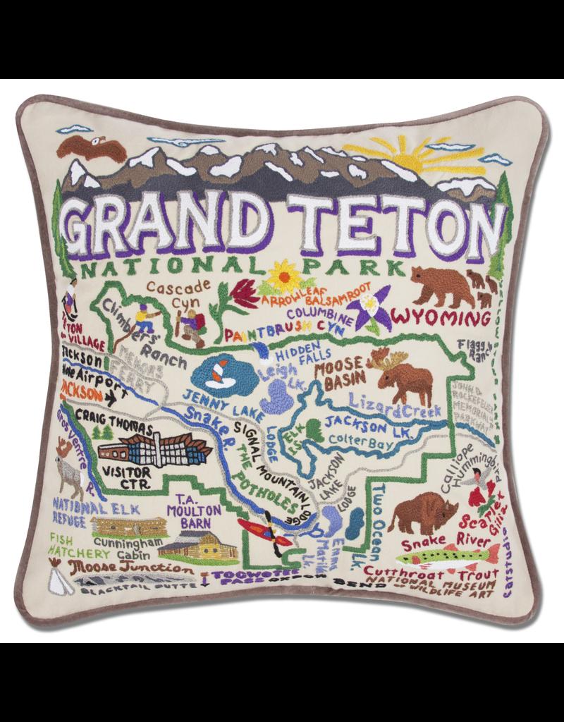 Pillows - Embroidered Grand Teton Pillow