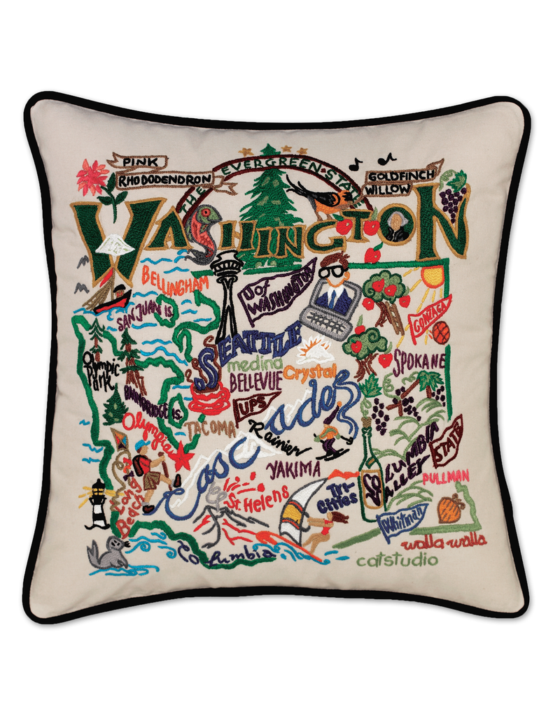 Pillows - Embroidered Washington State Pillow
