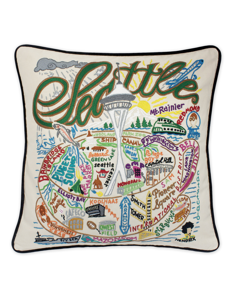 Pillows - Embroidered Seattle Pillow
