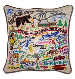 Pillows - Embroidered Great Smoky Mountains Pillow