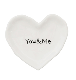 Vases You & Me Heart Dish
