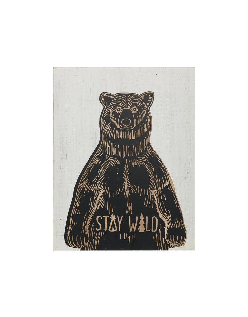 Plaques Stay Wild Bear Wall Decor