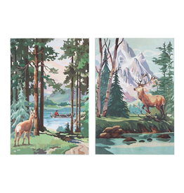 Canvas Art Scenic Deer Canvas Panels