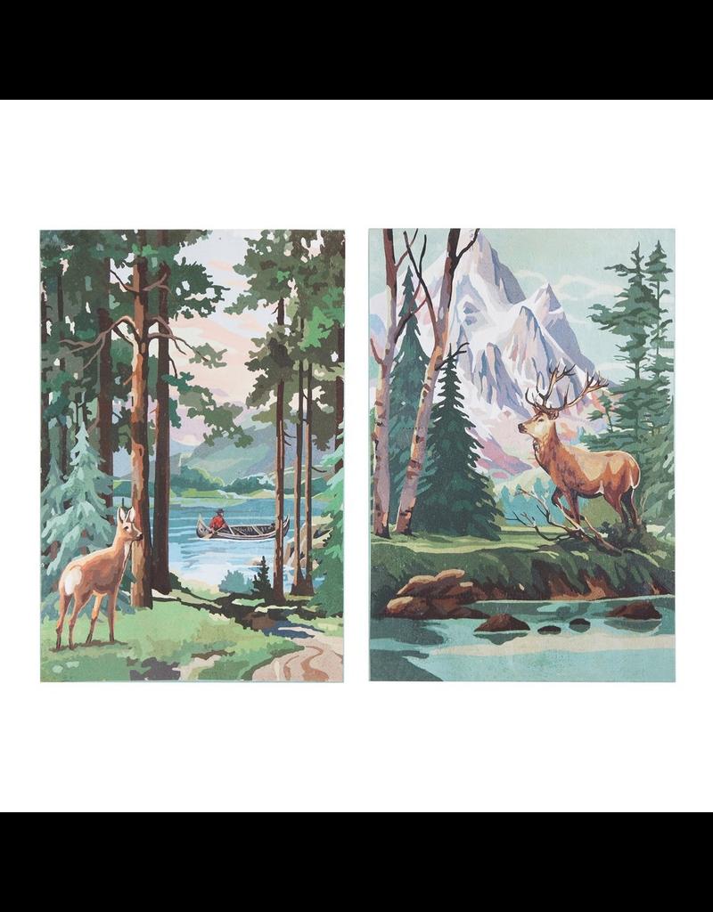 Canvas Art Scenic Deer Canvas Panels