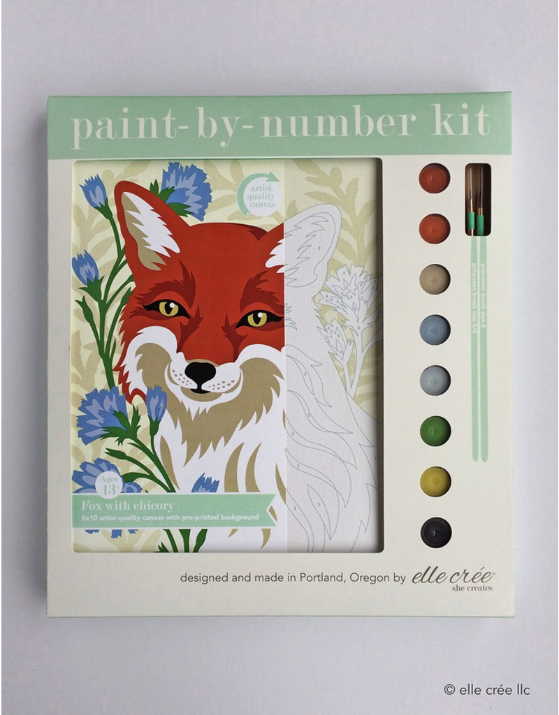 DIY Kits Fox Paint-By-Number Kit