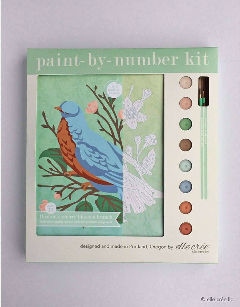 DIY Kits Bird On Branch Paint-By-Number Kit
