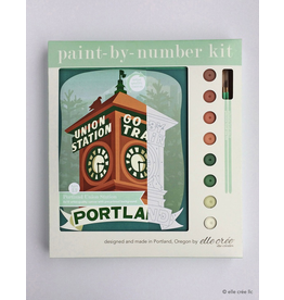 DIY Kits Portland Union Station Paint-By-Number Kit