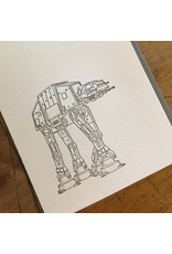 Greeting Cards - General AT-AT Letterpress Card