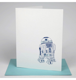Greeting Cards - General R2-D2 Letterpress Card