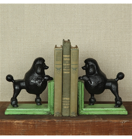 Bookends Black Poodle Bookends