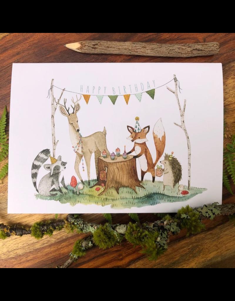 Greeting Cards - Birthday Woodland Birthday Greeting Card
