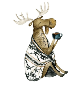 Prints Cozy Moose 11x14 Print