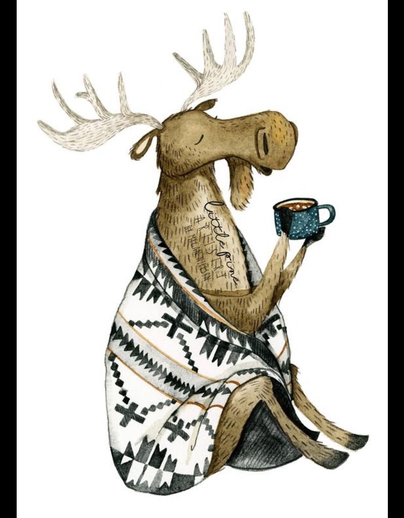 Prints Cozy Moose 11x14 Print