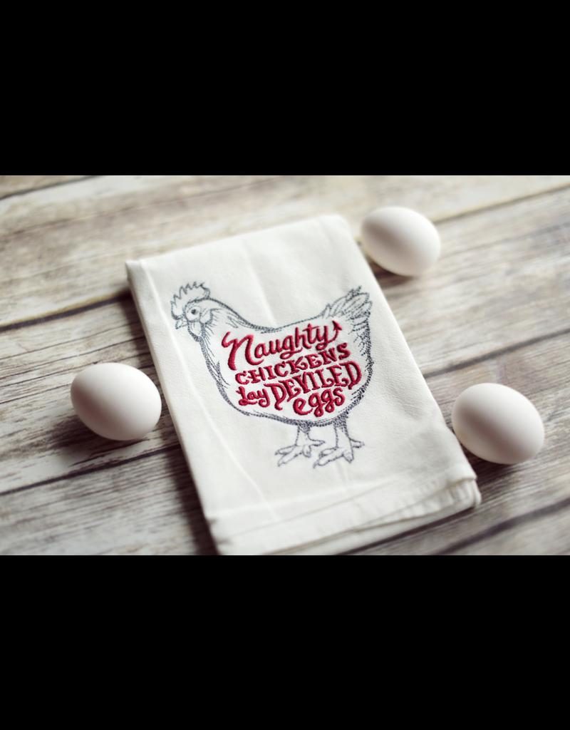 Tea Towels Naughty Devil Chicken Tea Towel