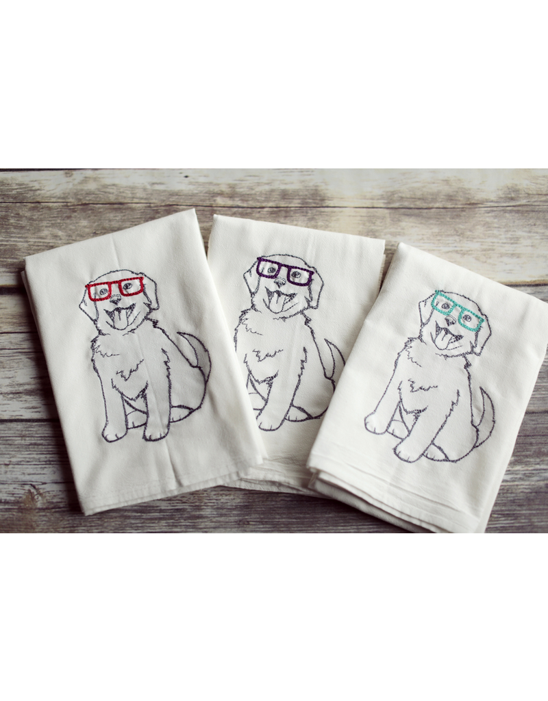 Tea Towels Nerdy Dog Tea Towel
