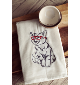 Tea Towels Nerdy Cat Tea Towel