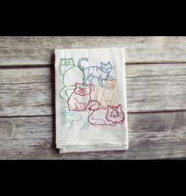 Tea Towels Lots Of Cats Tea Towel