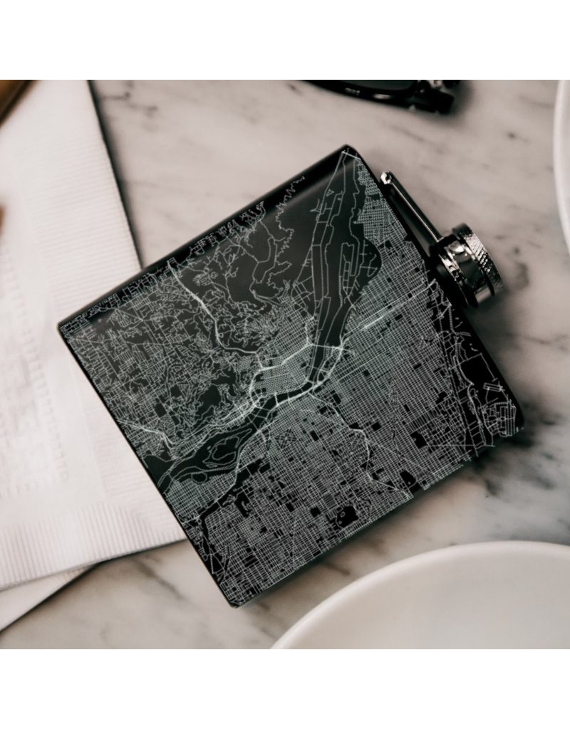 Flasks Portland Map Flask