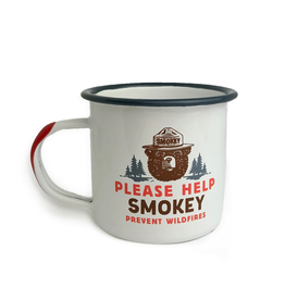 Enamelware Smokey Bear Enamel Mug