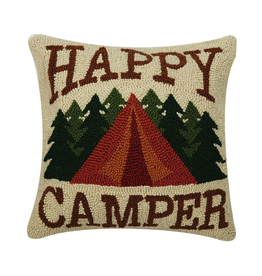 Pillows - Hooked Happy Camper Pillow