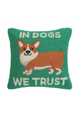 Pillows - Hooked In Dogs We Trust Pillow