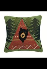 Pillows - Hooked Peek-A-Boo Bear Pillow