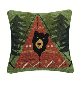 Pillows - Hooked Peek-A-Boo Bear Pillow