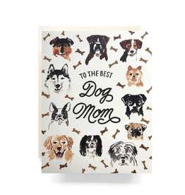 Greeting Cards - Mother's Day Best Dog Mom Greeting Card