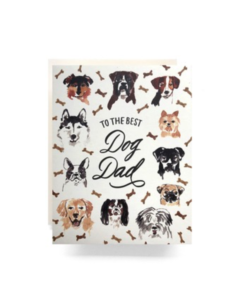 Greeting Cards - Father's Day Best Dog Dad Greeting Card