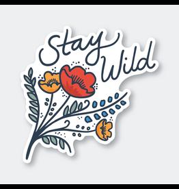 Stickers Stay Wild Flower Sticker