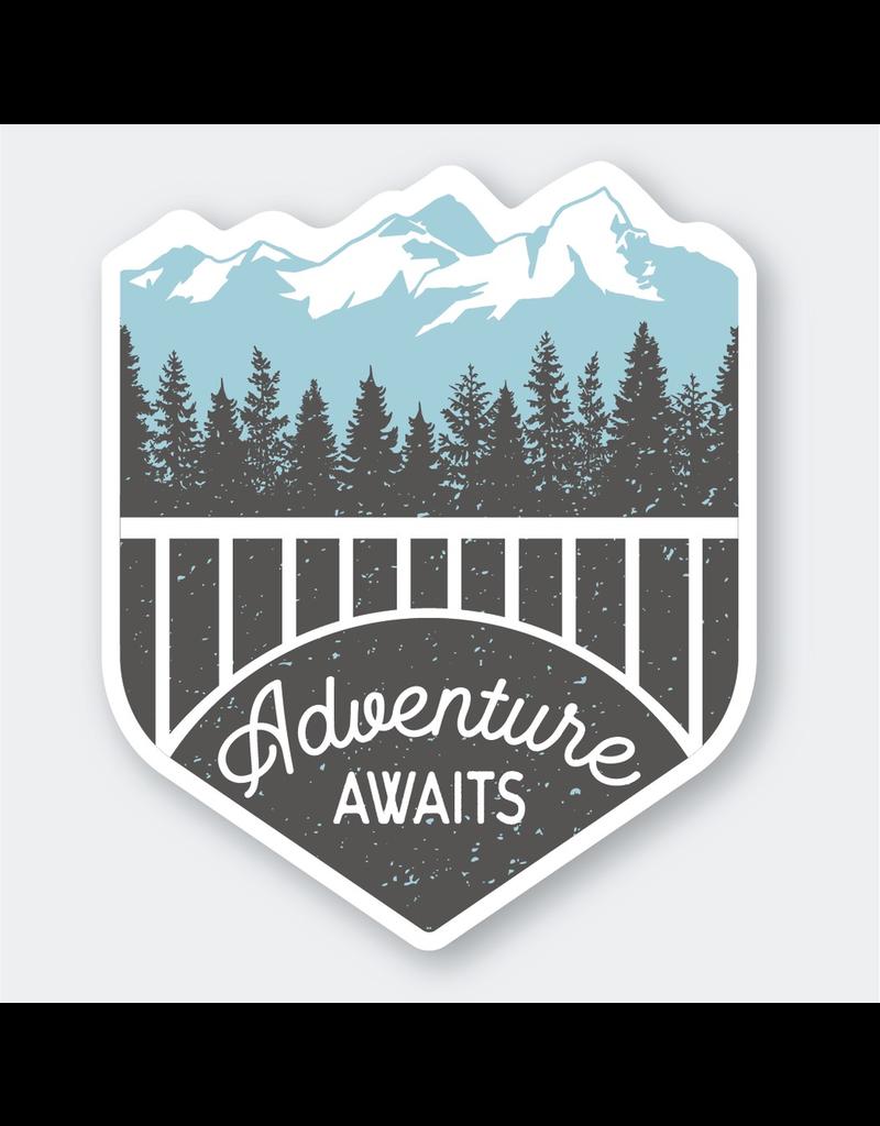 Stickers Adventure Awaits Sticker