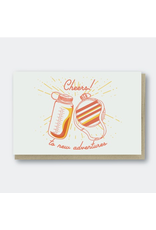 Greeting Cards - Congrats Cheers To New Adventures Greeting Card