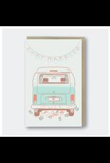 Greeting Cards - Wedding Just Married Camper Van Greeting Card