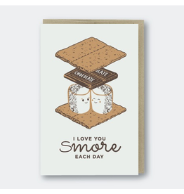 Greeting Cards - Love Love You S'More Greeting Card