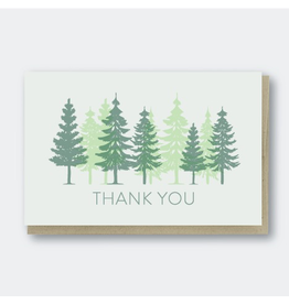 Greeting Cards - Thank You Trees Thank You Greeting Card