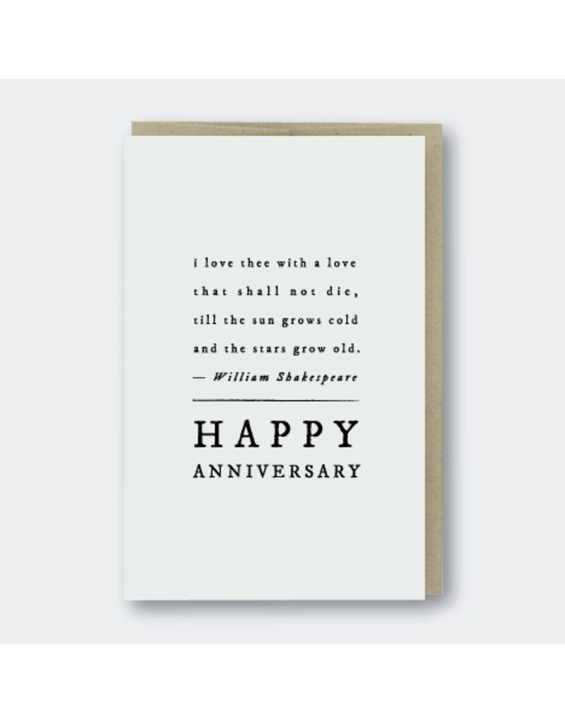 Greeting Cards - Anniversary Shakespeare Anniversary Quote Greeting Card