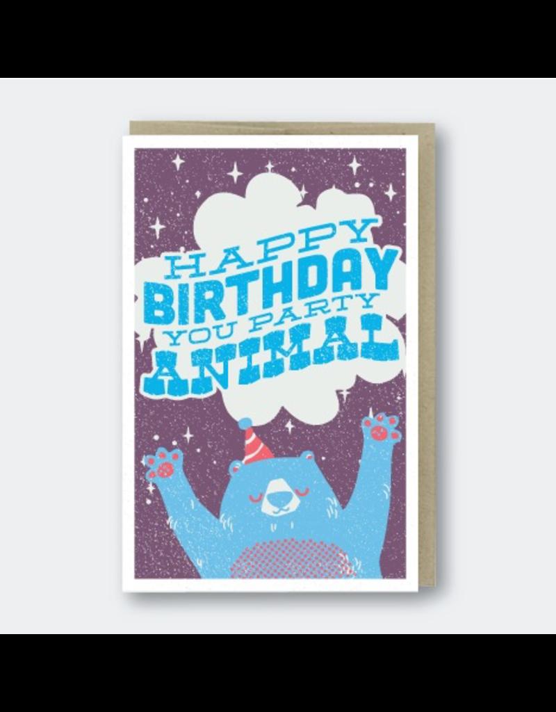 Greeting Cards - Birthday Party Animal Birthday Greeting Card