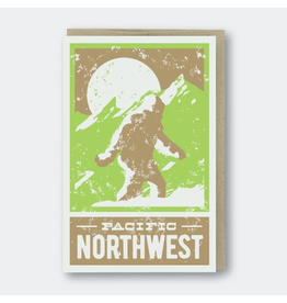 Greeting Cards - Local Sasquatch Pacific Northwest Greeting Card