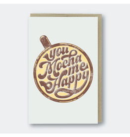 Greeting Cards - Friendship You Mocha Me Happy Greeting Card