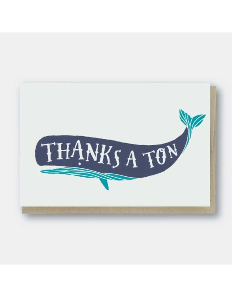 Greeting Cards - Thank You Thanks A Ton Greeting Card