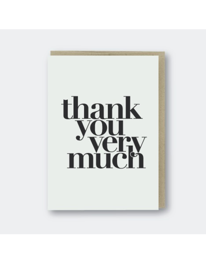 Greeting Cards - Thank You Thank You Very Much Greeting Card