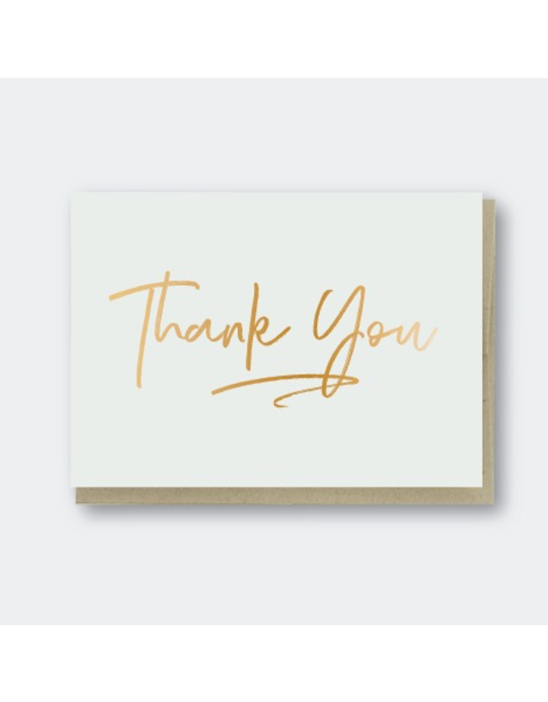 Greeting Cards - Thank You Thank You Gold Foil Greeting Card