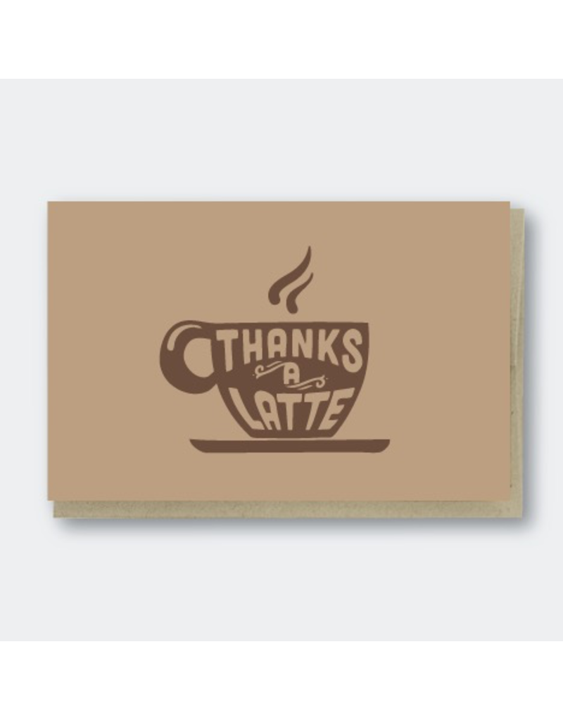 Greeting Cards - Thank You Thanks A Latte Greeting Card