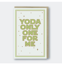 Greeting Cards - Love Yoda Only One For Me Greeting Card