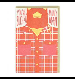 Greeting Cards - General Manly Man Greeting Card